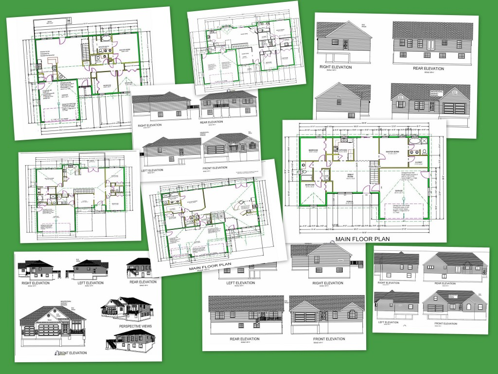 Cad house plans as low as 1 per plan for Autocad house drawings