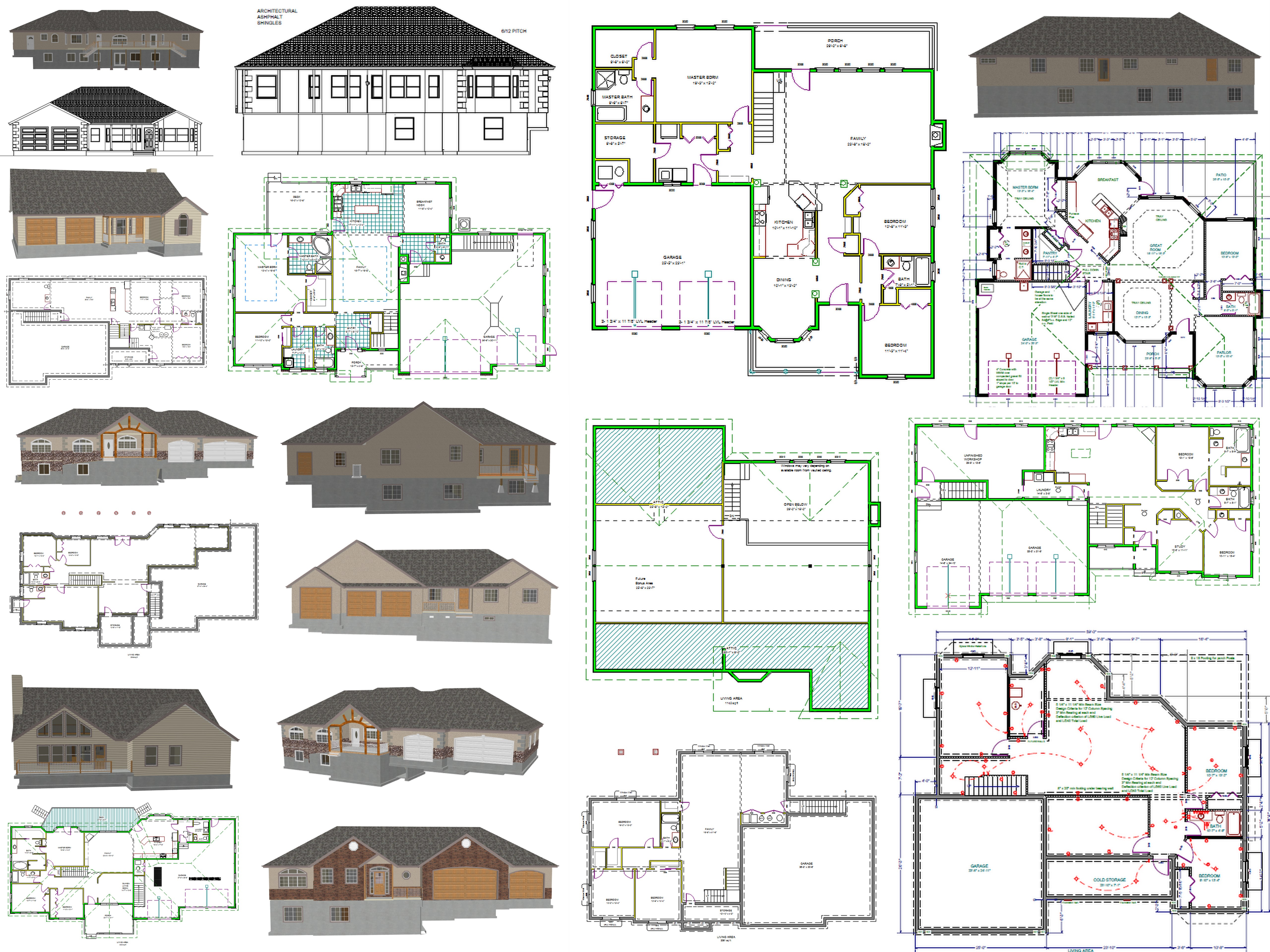 Cad house plans as low as 1 per plan Home building plans