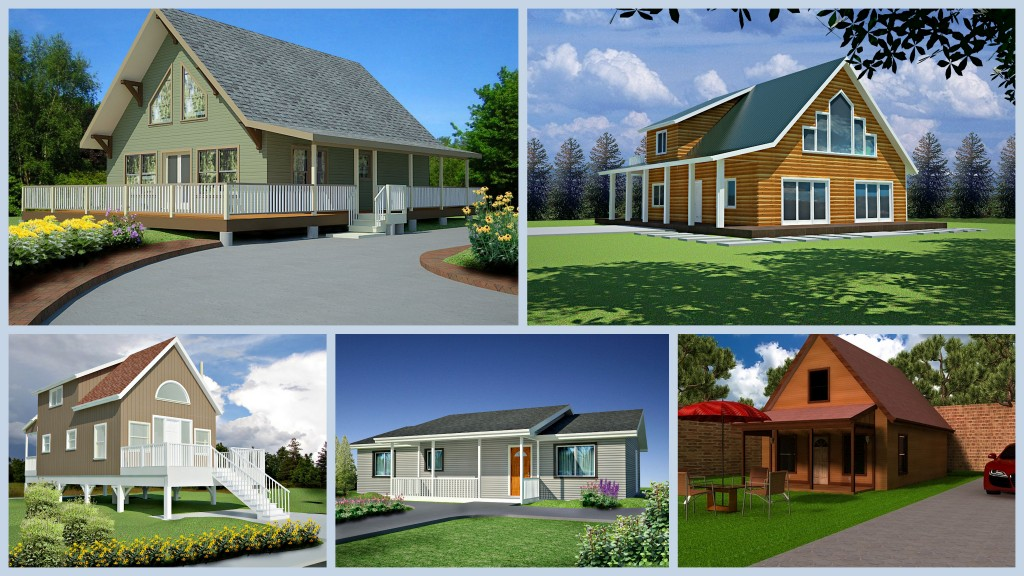 5 AutoCAD House and Cabin Plans