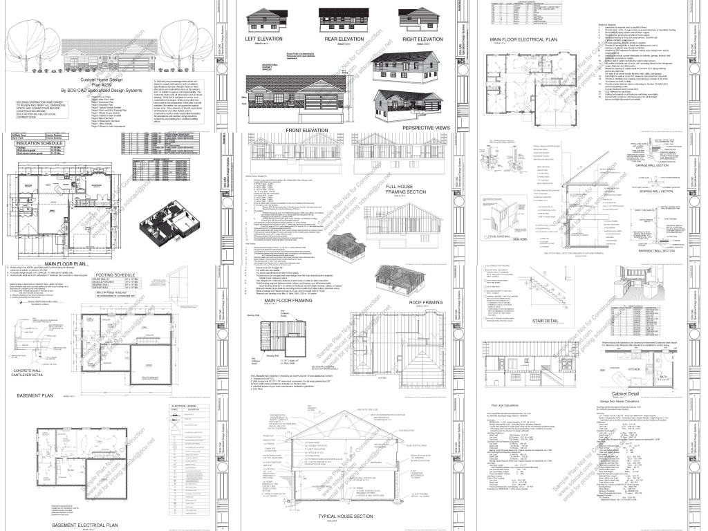 CAD House Plans - As Low As $1 Per Plan!